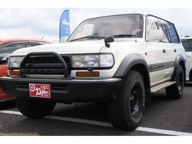 トヨタ ランドクルーザー80 VXリミテッド サンルーフ 8ナンバーキャンピング HDDナビ ETC 純正16AW 背面タイヤ クールボックス 記録簿
