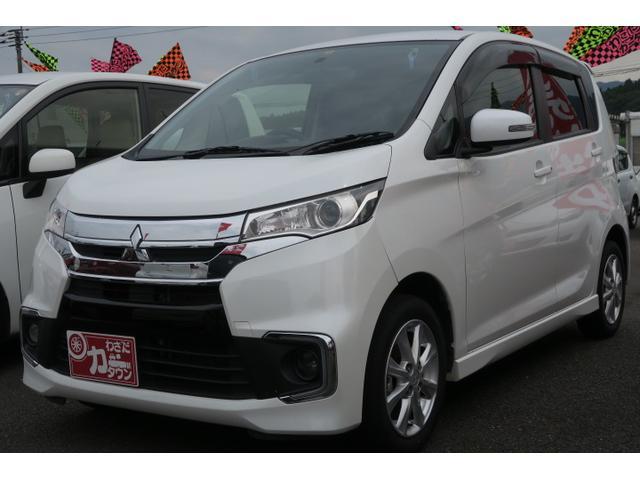 三菱 eKカスタム G ナビ TV バックモニター シートヒーター オートAC