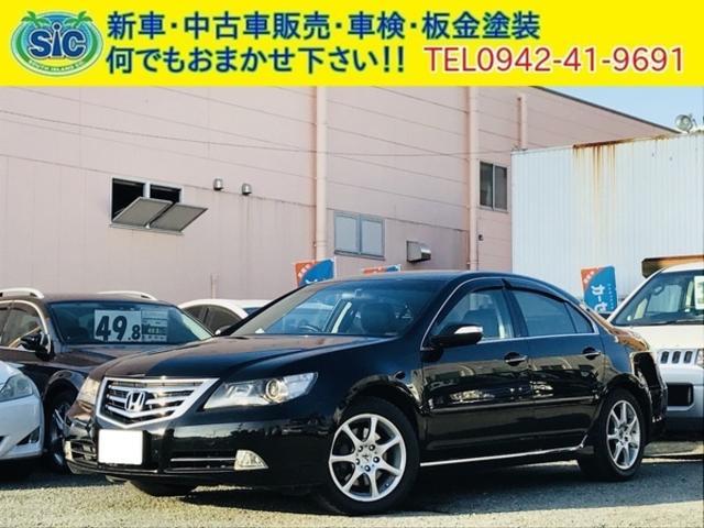 ホンダ 3.7 4WD 黒革シート パワートランク 電動リアシェード