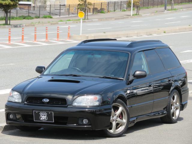 スバル レガシィツーリングワゴン GT-B E-tuneII 後期最終モデル 4WDターボAT 新品前後O2センサー交換済 HDDナビ4X4フルセグDVD可 バックカメラ ETC オートエアコン ターボタイマー キーレス/スペアキー 車検整備2年付
