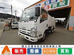 エルフトラック2tプレス式5立米 電動格納ミラー 森田