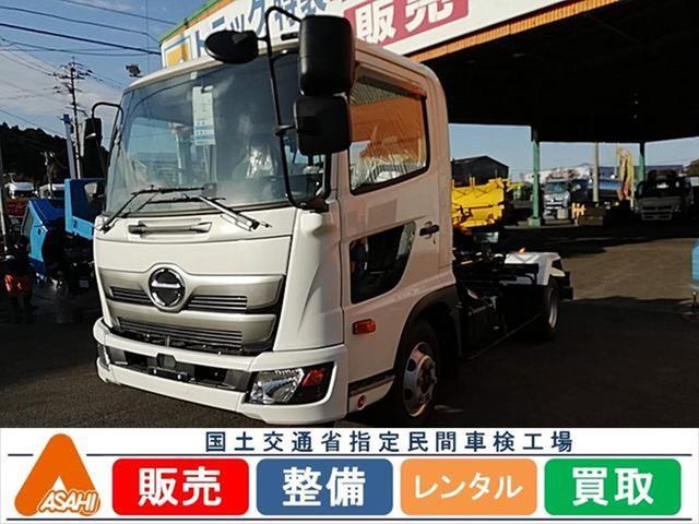 日野 3.7t脱着装置付コンテナ車 極東開発