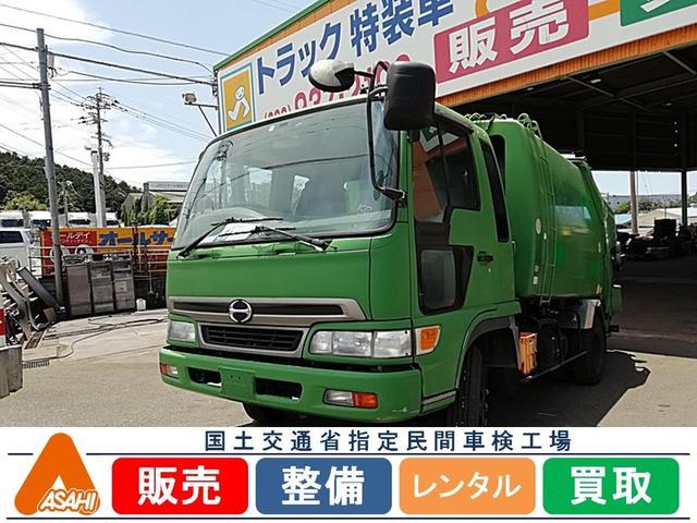 日野 2.2tプレス式8立米パッカー車 極東開発 6速MT
