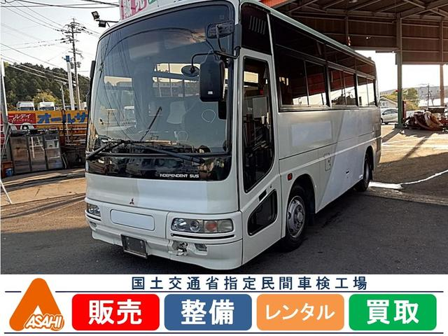三菱ふそう 三菱ふそう エアロミディ26人乗り小型バス観光仕様貫通トランク有