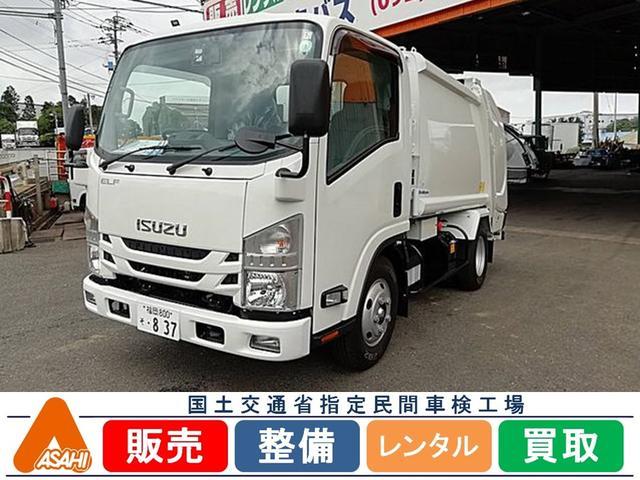 エルフトラック(いすゞ) 2.65tプレス式4.6立米パッカー車 架装メーカー・新明和 内容量・4.6m3 作動方式・プレス  中古車画像