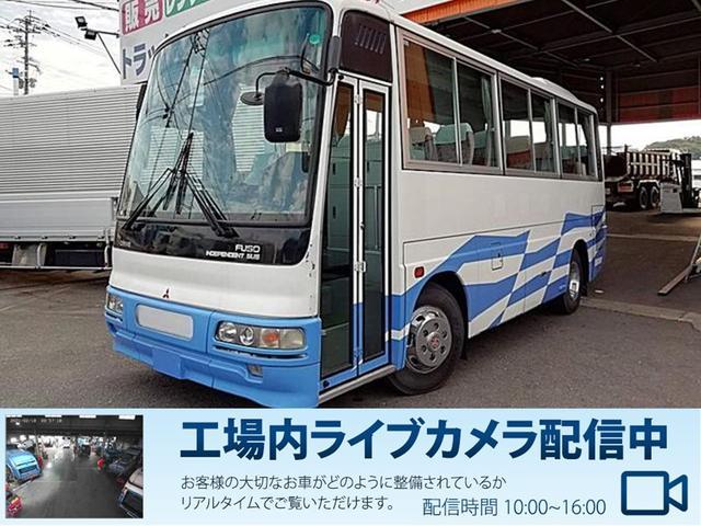 三菱ふそう 三菱ふそう  エアロミディ29人乗マイクロバス送迎仕様貫通トランク有り