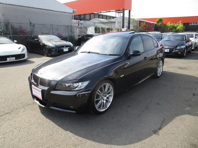 BMW 3シリーズ 325i Mスポーツパッケージ プッシュスタート キーレス サンルーフ ETC バックカメラ CD DVDナビ 前席パワーシート HID フォグ オートライト 18アルミ タイミングチェーン