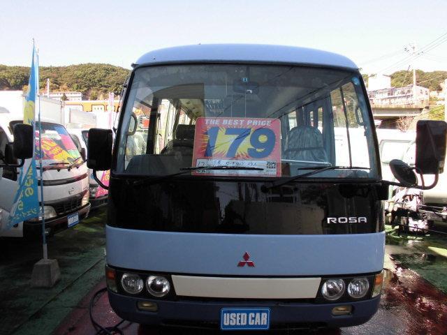 三菱ふそう 24人乗りバス 自動ドア オートステップ リヤ両開き