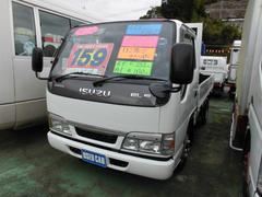 エルフトラック標準キャブ ショートボデー フルフラットロー 木製平ボデー