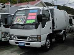 エルフトラック塵芥車 極東製プレス式 ハイルーフ