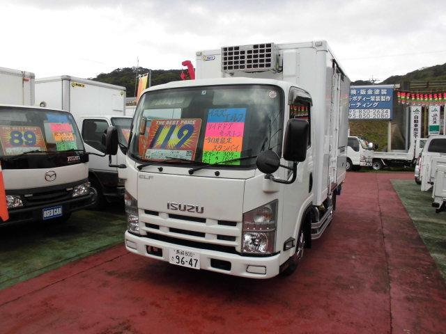 いすゞ エルフトラック 冷蔵冷凍車 フルフラットロー 標準キャブ サイドドア付