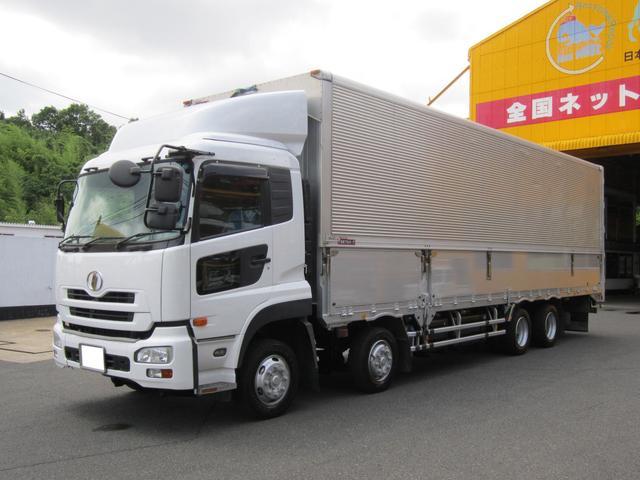 UDトラックス 25t ウイングバン 4軸低床 総輪エアサス