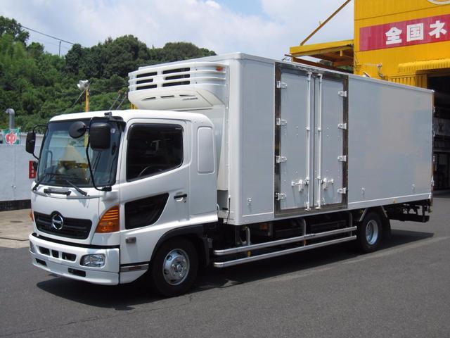 日野 4t 冷蔵冷凍車 後輪エアサス 横ドア付