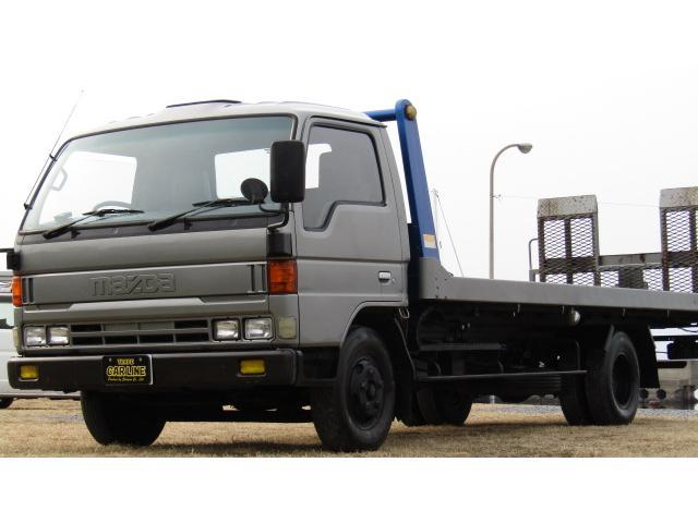 マツダ 超ロングフルワイドロー 積載車 6MT ウィンチ付き ETC