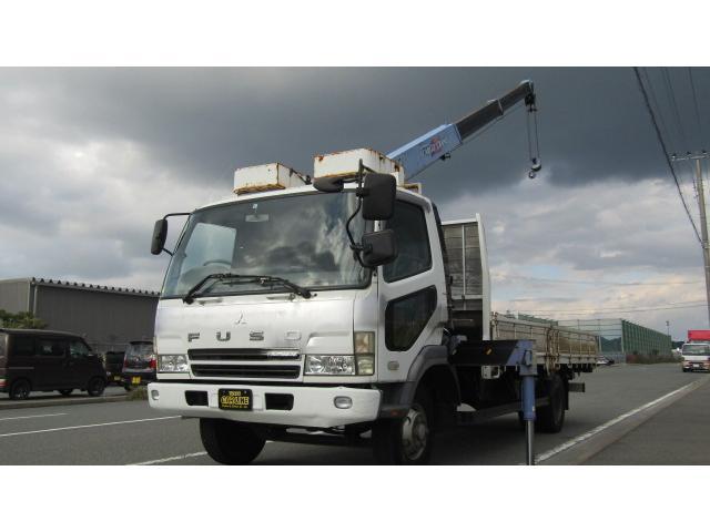 三菱ふそう タダノ3段クレーン フックイン 6MT 210PS