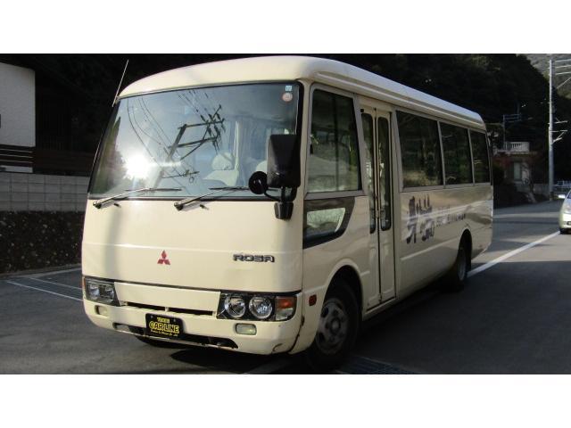 三菱ふそう ローザ マイクロバス 29人乗り 自動ドア 6MT ターボ