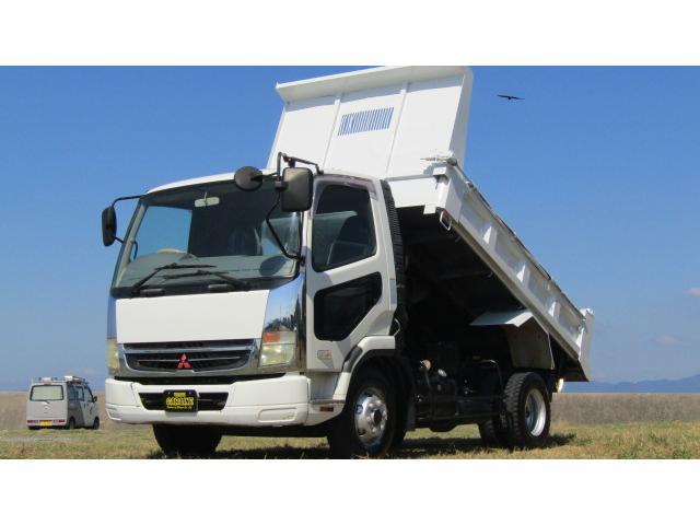 三菱ふそう 4tダンプ 箱塗装 電動コボレーン 6MT