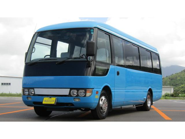 三菱ふそう ローザ ロングカスタムターボ マイクロバス 29人乗り 自動スイングドア ドラレコ バックカメラ
