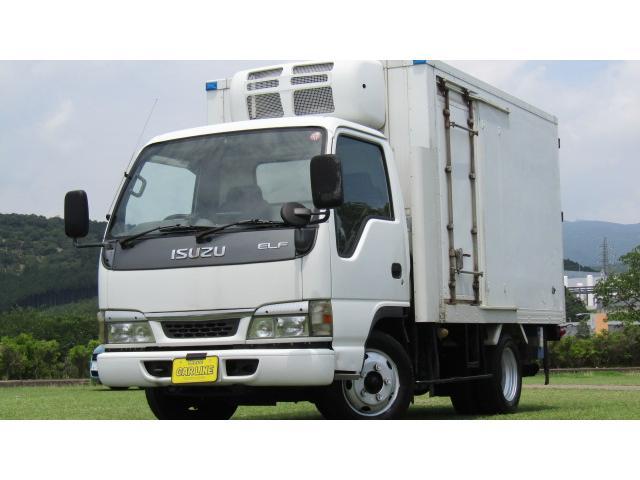 いすゞ エルフトラック フラットロー 冷凍冷蔵車 -30℃設定 スタンバイ付き 左スライドドア