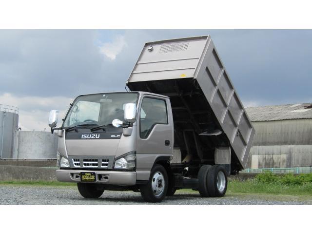 いすゞ エルフトラック フルフラットローダンプ 深箱ダンプ 観音扉 2900kg積載