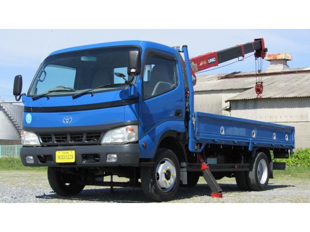 トヨタ ダイナトラック  4.9ディーゼル ワイド ロング高床 ユニック製 4段簡易クレーン