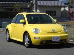 VW ニュービートルベースグレード サンルーフ 黒革シート キーレス