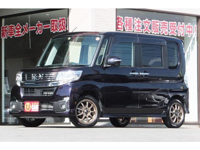 カスタムX 国産タイヤ4本新品 メモリーナビ バックカメラ(1枚目)
