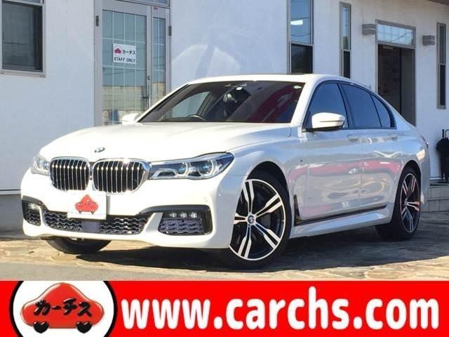 BMW 750i Mスポーツ 純正HDDナビ サンルーフ 黒革シート フルセグ地デジ LEDヘッドライト 全方位モニター