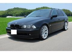 BMW530iツーリングハイライン 本革シート HDDナビ 車高調