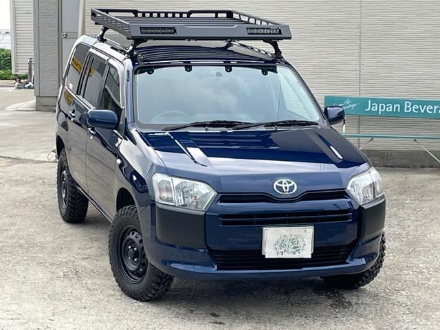 トヨタ プロボックス  4WD リフトUP ブロックタイヤ ルーフキャリア ロッドホルダー ワンセグ ETC CVT