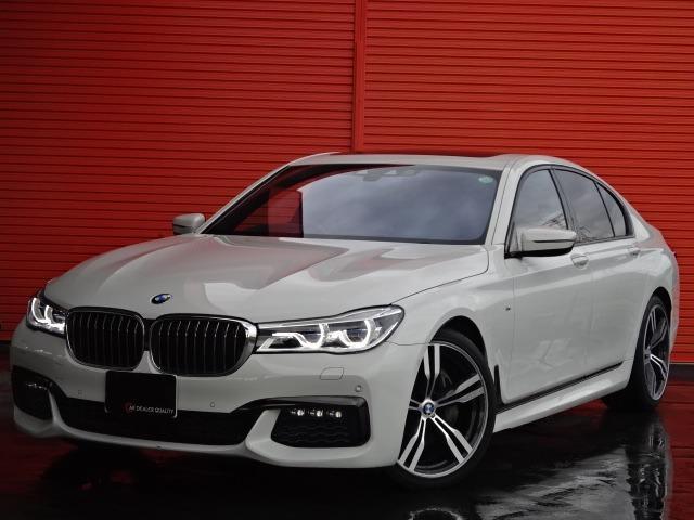 BMW 740d xDrive Mスポーツ ワンオーナー 黒革 サンルーフ 20AW ナビTV パークディスタンス ヘッドアップディスプレイ アクティブクルーズコントロール コンフォートアクセス 3Dビューカメラ