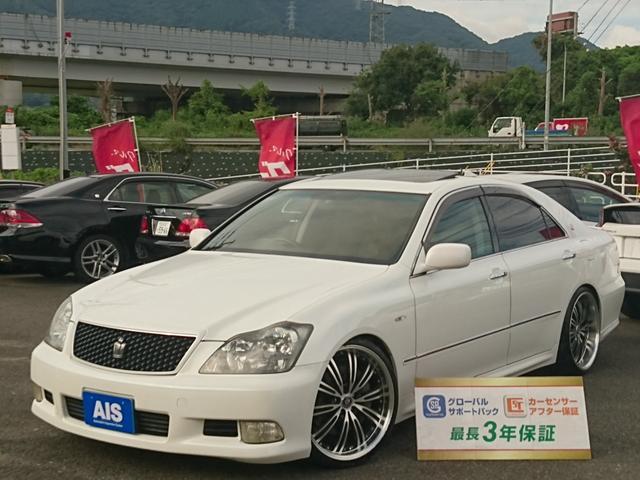 トヨタ アスリートGパッケージSR・黒皮・RS-R車高調・20インチ