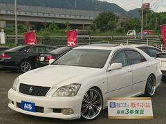 クラウンアスリートGパッケージSR・黒皮・RS−R車高調・20インチ