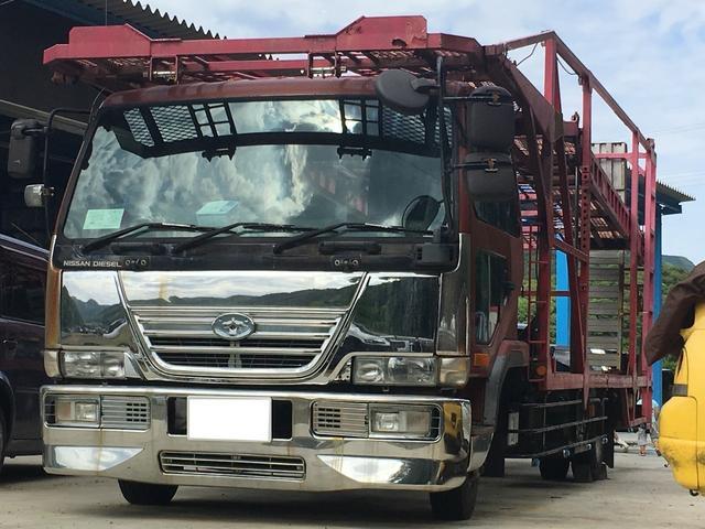 UDトラックス 積載車 6速MT ETC ラジコンウィンチ付 HDDナビ