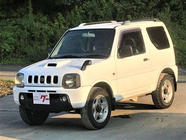 スズキ XC 保証付 4WD ターボ 純正アルミホイール キーレス CDオーディオ ルーフレール 背面タイヤ付 フロアAT