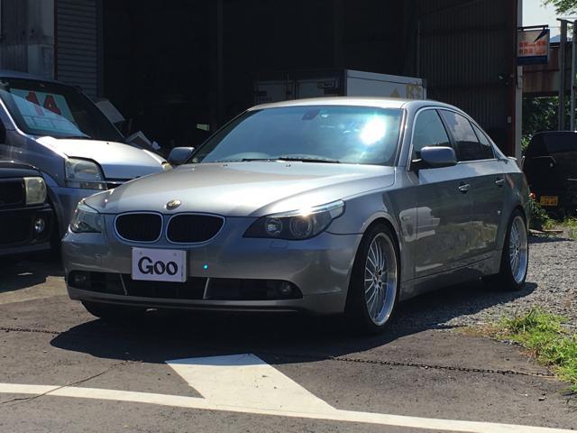 BMW 525i 社外ナビ キーレス 黒革シート BBS19AW・