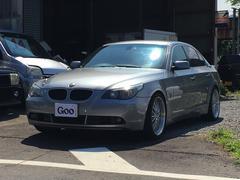 BMW525i 社外ナビ キーレス 黒革シート BBS19AW・