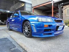 スカイラインGT GTRブルー全塗装 18アルミ DVDナビ ローダウン
