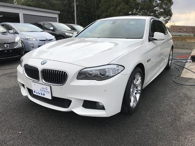 BMW 5シリーズ 528i Mスポーツパッケージ 本革シート・シートヒーター・クルーズコントロール・フルセグTV・Bluetooth
