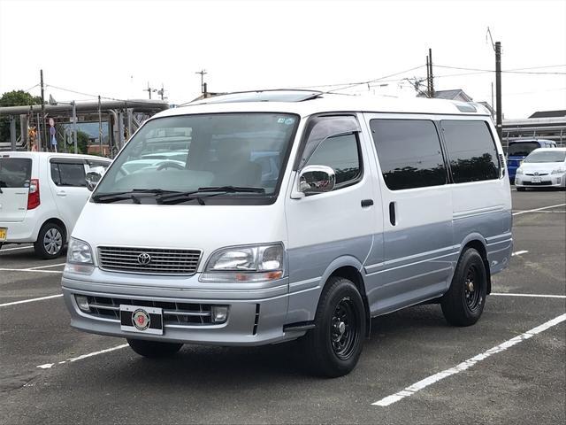 トヨタ ハイエースワゴン スーパーカスタムG サンルーフ SDナビ地デジ Bカメラ