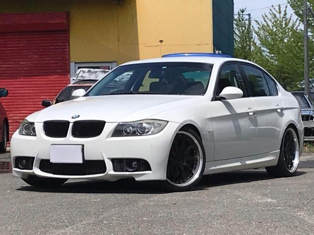 BMW 335i Mスポーツ仕様 黒革 車高調 19AW 純正ナビ