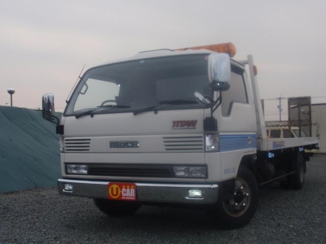 マツダ タイタントラック タイタン 1台積 積載車2トン ポータブルナビ・TV・ETC