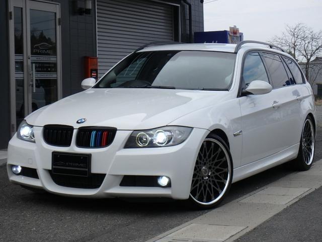 BMW 3シリーズ 320iツーリング Mスポーツパッケージ カスタムオーディオコンテスト入賞車 ディーラー車 右ハンドル 19inアルミ ビルシュタイン車高調 シートカバー パワーシート オートHIDライト ルーフレール
