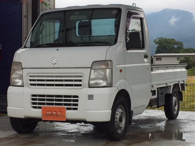 スズキ KCエアコン・パワステ 3方開 4WD 自社保障付き