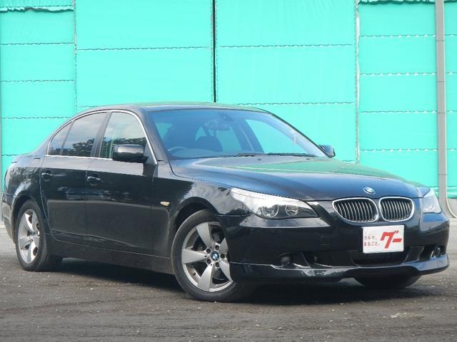 BMW 5シリーズ 525i 純正アルミホイール ETC HIDヘッドライト レザーシート 電動シート キーレス 記録簿