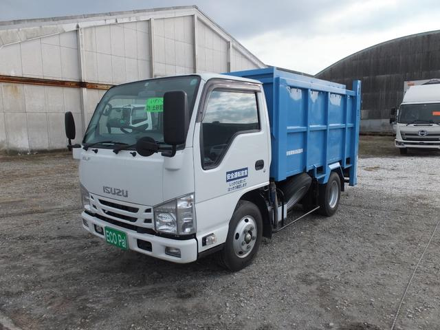 いすゞ 2t積載 一般廃棄物収集運搬車 土砂禁ダンフ