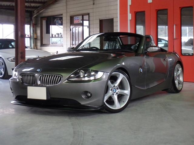 BMW Z4 3.0i M54B30 オートマ機能付 2ペダルマニュアル 6速 SMG パドルシフト トライアングルFタワーバー ビルシュタインショック レザーパワーシート シートヒーター バイキセノンヘッドライト ETC