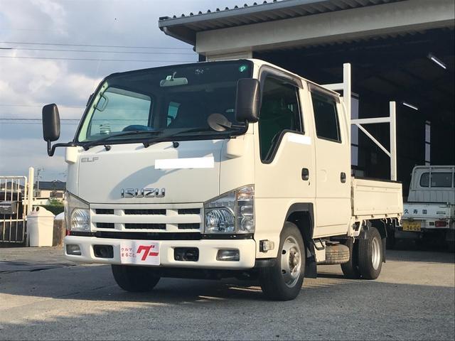 いすゞ エルフトラック Wキャブ キーレス ETC MT5速 エアコン パワステ フォグランプ