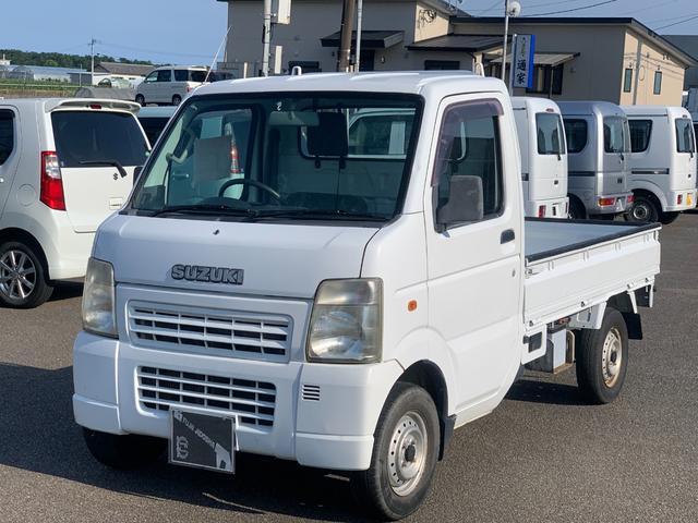 スズキ KCエアコン・パワステ エアコン 三方開 5速マニュアル車 ヘッドライトレベライザー