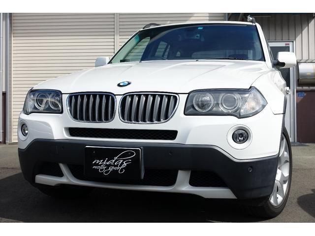 BMW X3 2.5si 本革 サンルーフ イカリングLED FOGHID
